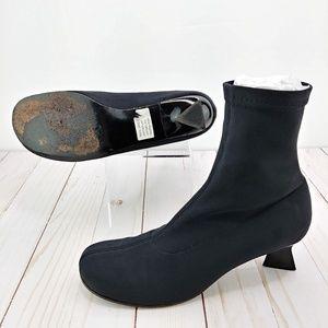 Robert Clergerie ESpace Black Ankle Sock Bootie